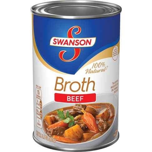 Swanson® 100% Natural Beef Broth 14.5 oz - image 1 of 6