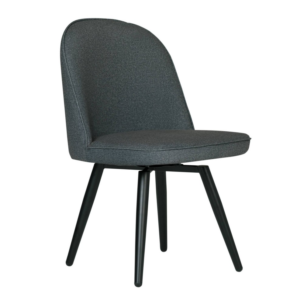 Dome Armless Swivel Chair Charcoal Heather - Studio Designs Home