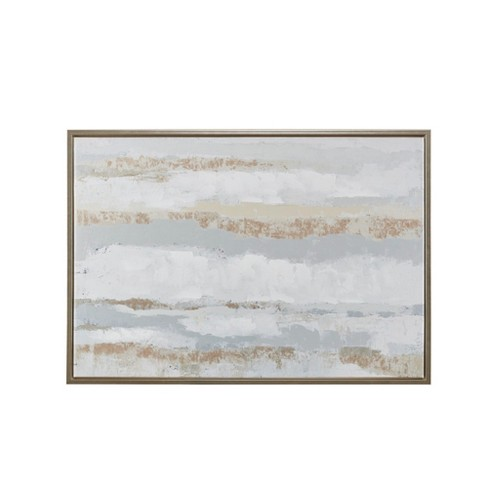 """Strato Hand Embellishment Canvas with Gold Foil Natural 27.5""""x39.5"""" - image 1 of 6"""