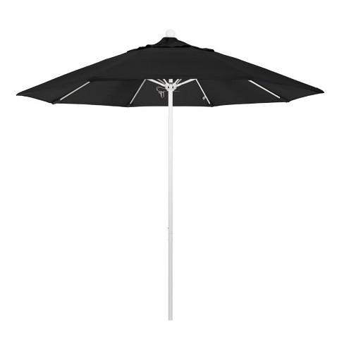 Venture 9' White Market Umbrella in Black - California Umbrella - image 1 of 1
