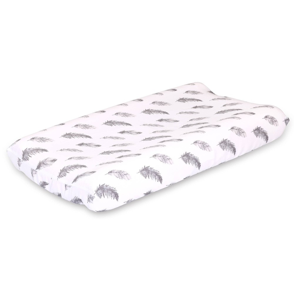 Image of Farmhouse Feather Changing Pad Cover by The Peanutshell