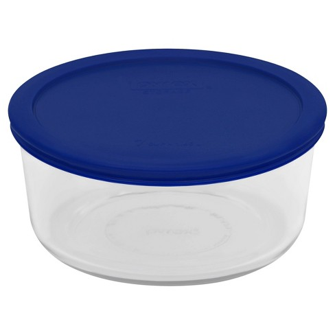 Pyrex 7 Cup Glass Round Storage Container Blue - image 1 of 2