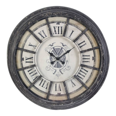Randall Oversized Wall Clock Gray - A&B Home - image 1 of 1
