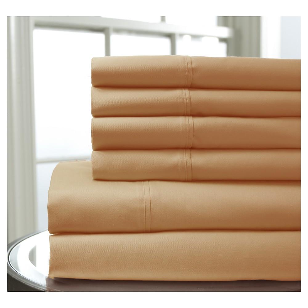 Regency Bonus Cotton Sheet Set (California King) Coral (Pink)
