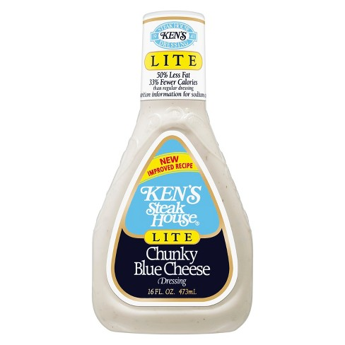 Ken's Steak House® Lite Chunky Blue Cheese Dressing - 16 fl oz - image 1 of 1