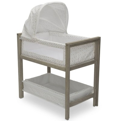 Delta Children Farmhouse 2-in-1 Convertible Bassinet with Canopy - Royal Charms