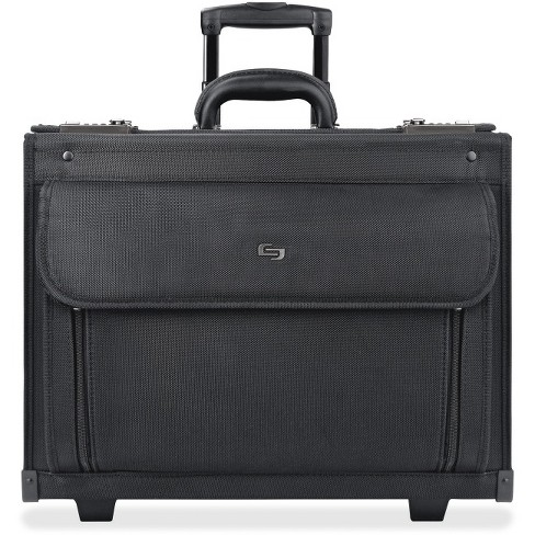 "Solo Classic Carrying Case (Roller) for 17"" Notebook - Black - Ballistic Poly, Polyester - Handle - 12.8"" Height x 18"" Width x 7"" Depth - image 1 of 1"