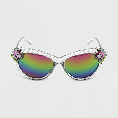 Toddler Girls' Unicorn Glitter Cateye Sunglass - Cat & Jack™ Yellow/Green/Pink