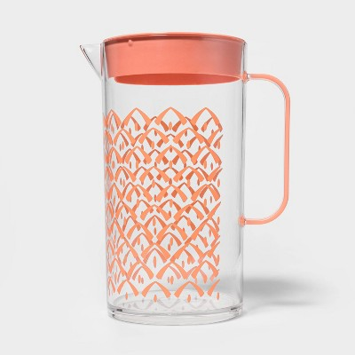 82oz Plastic Pineapple Beverage Pitcher Orange - Sun Squad™