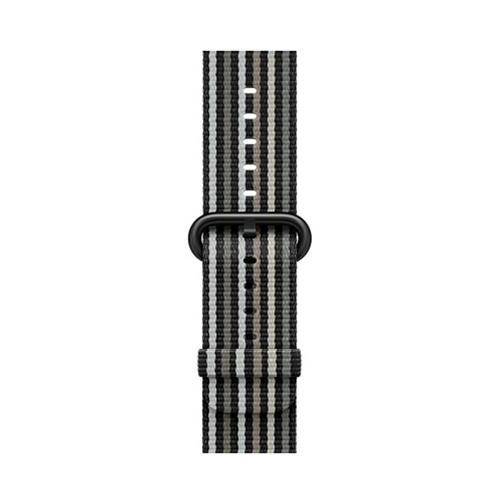 Apple Watch 42mm Stripe Woven Nylon Band - Black