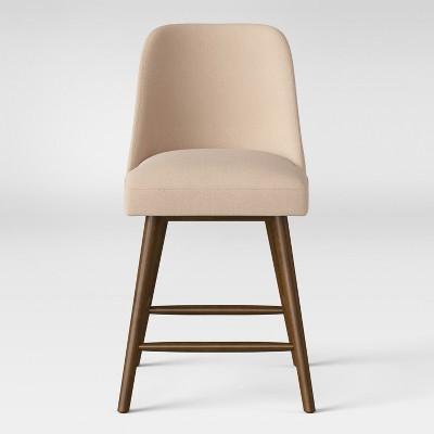 25  Geller Modern Counter Stool Linen/Chestnut - Project 62™