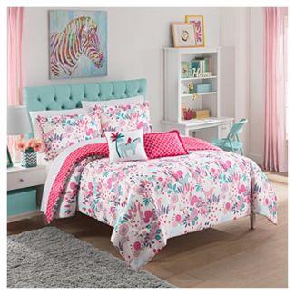 Pink Reverie Reversible Bedding Set (Full) - Waverly Kids®