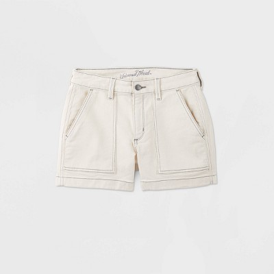 Women's High-Rise Jean Shorts - Universal Thread™ Cream