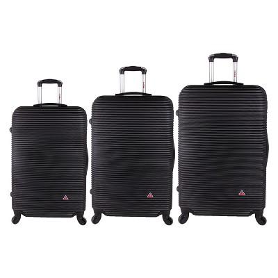 InUSA Royal 3pc Hardside Spinner Luggage Set 20 & 24 & 28  - Black