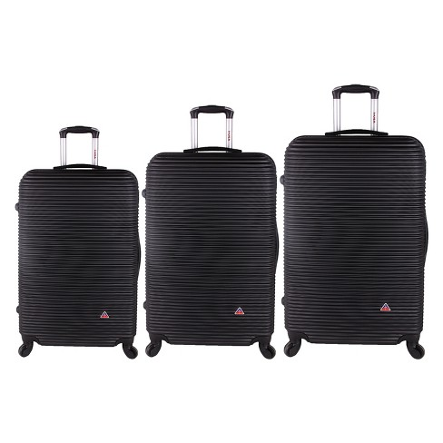 "InUSA Royal 3pc Hardside Spinner Luggage Set 20""& 24""& 28"" - Black - image 1 of 4"