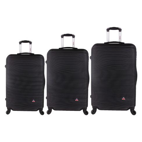 "InUSA Royal 3pc Hardside Spinner Luggage Set 20""& 24""& 28"" - Black - image 1 of 4"