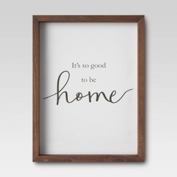 "11"" X 17"" It's Good To Be Home Framed Wall Print- Threshold™"