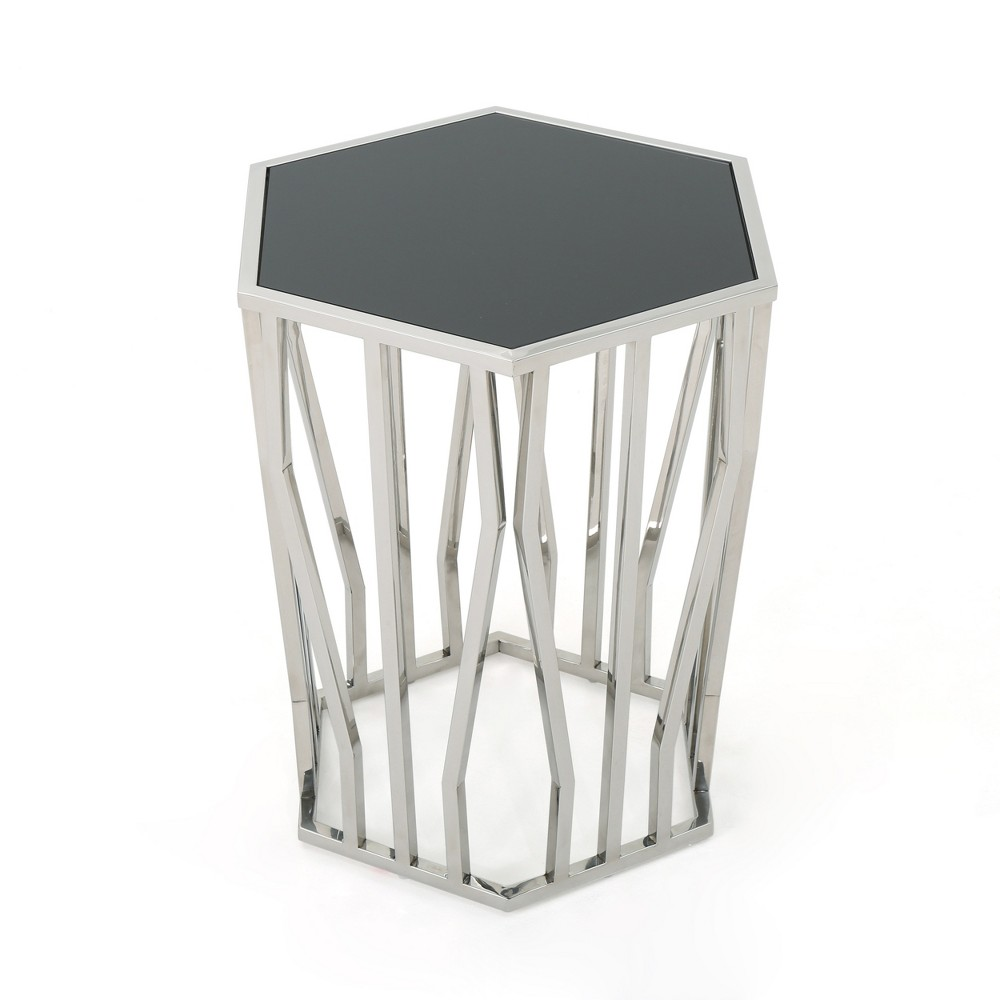 Elainea Modern Side Table Black - Christopher Knight Home