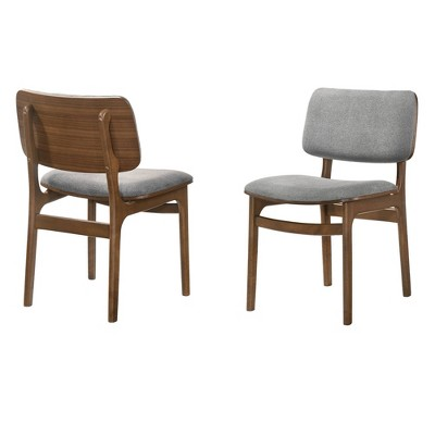 Set of 2 Lima Upholstered Wood Dining Chairs - Armen Living