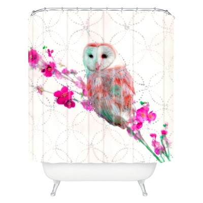 Quinceowl Shower Curtain Ivory - Deny Designs