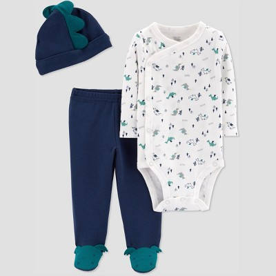 Baby Boys' 3pc Dragon Set with Cap - Just One You® made by carter's Navy Newborn