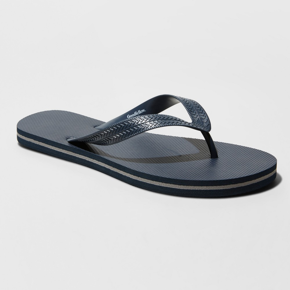 Image of Men's Richmond Flip Flop Sandals - Goodfellow & Co Navy S, Size: Small, Blue