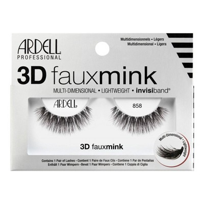 Ardell 3D Faux Mink False Eyelashes 858 Lash Black - 1pr
