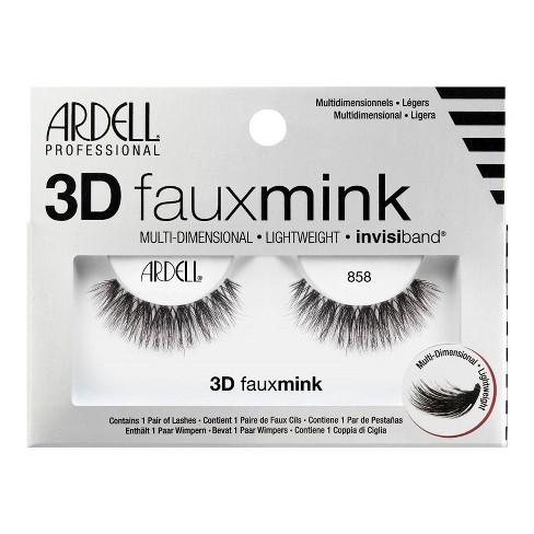 Ardell 3D Faux Mink False Eyelashes 858 Lash Black - 1pr - image 1 of 3