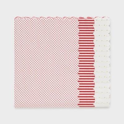 Red Scallop Gift Tissue 25ct - Sugar Paper™