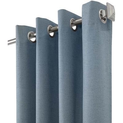 "ThermaPlus Slubbed Blackout Curtains with Grommets, 84""L Patio Panel Pair"