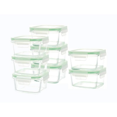 Kinetic Go Green Glassworks Square Food Storage Container Set - 18oz