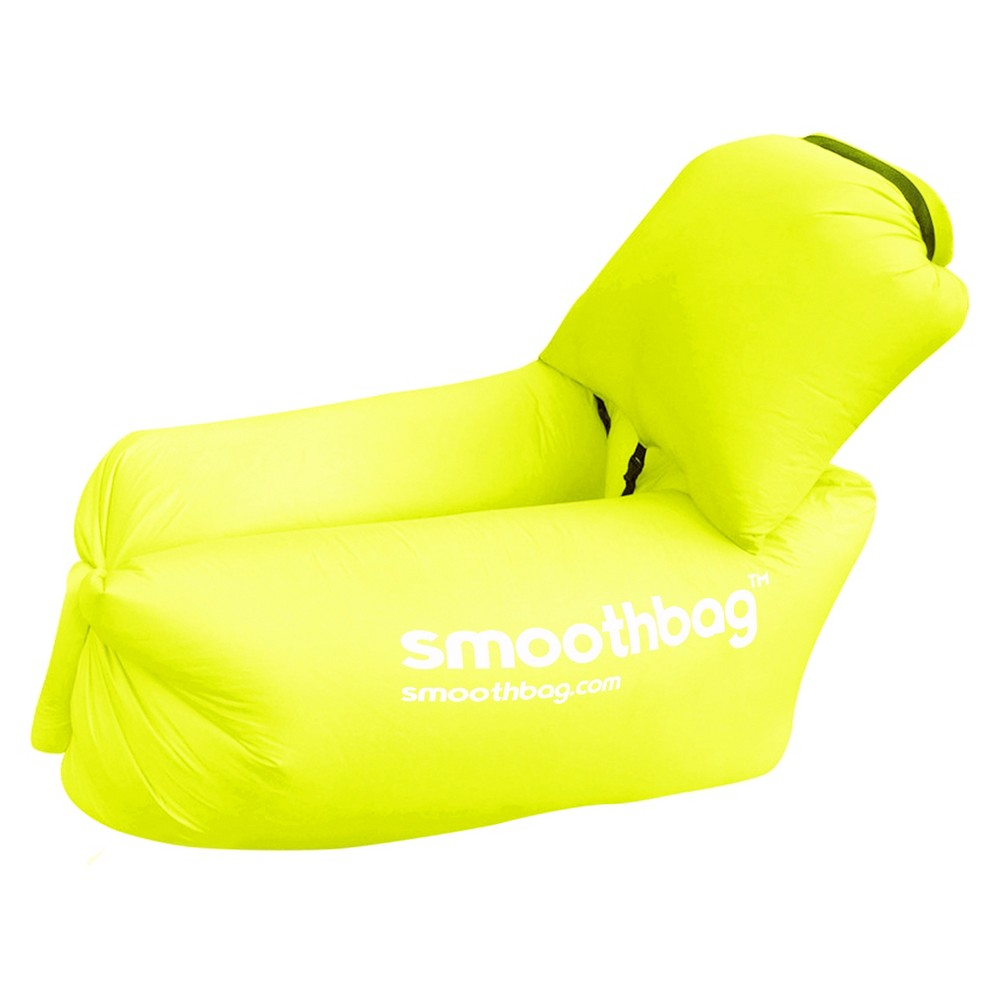 SmoothBag Portable Inflatable Pop-Up Lounging Chair with Comfy Detacha - Florescent Green