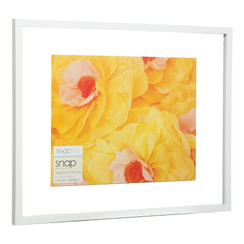 Single Image 16x20 Float To 11x14 White Frame Gallery Solutions
