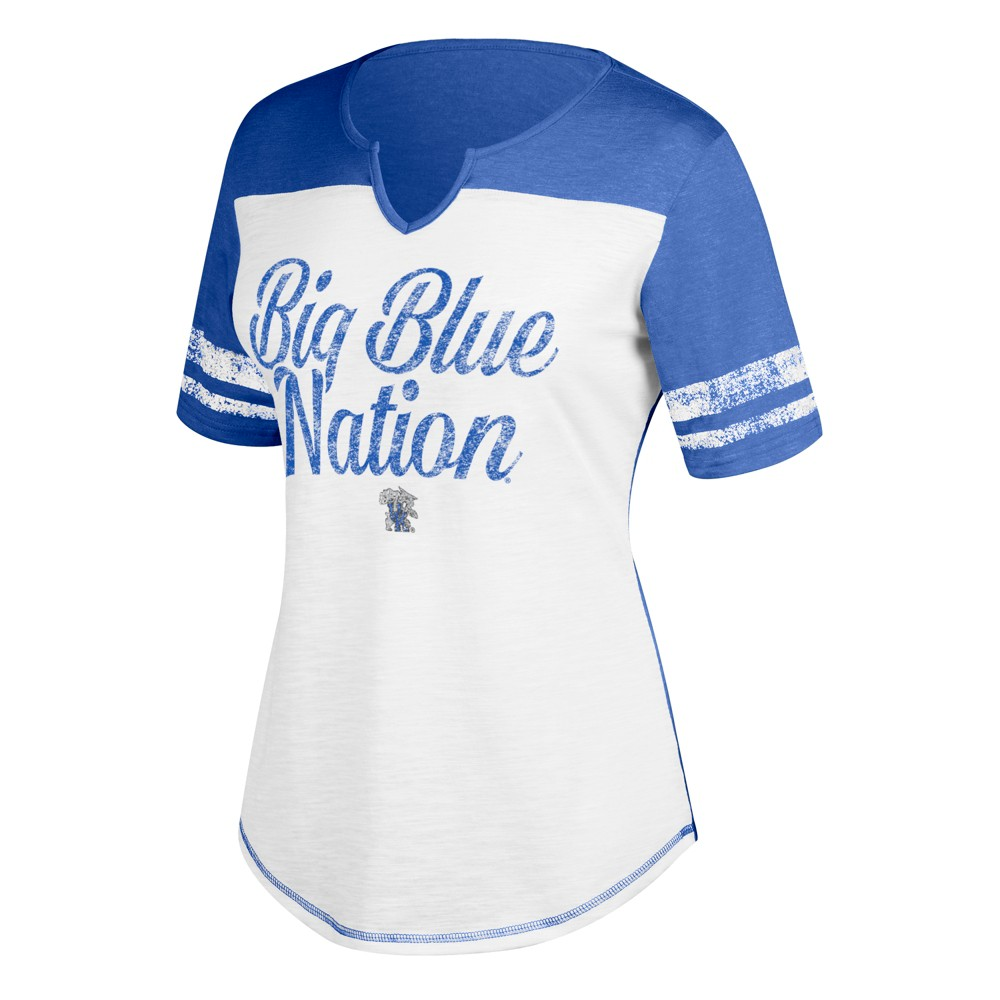 NCAA Women's Split Neck T-Shirt Kentucky Wildcats - S, White