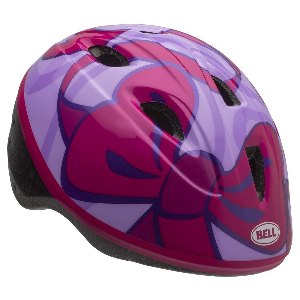 Bell Sprout Bows Infant Bike Helmet - Pink/Purple