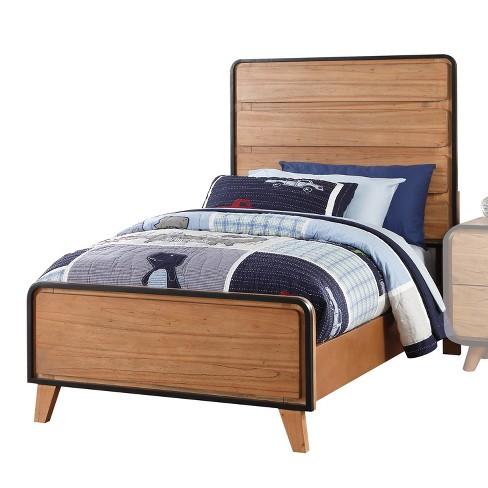 Acme Furniture Carla Twin Bed Oak Brown/Black - image 1 of 1