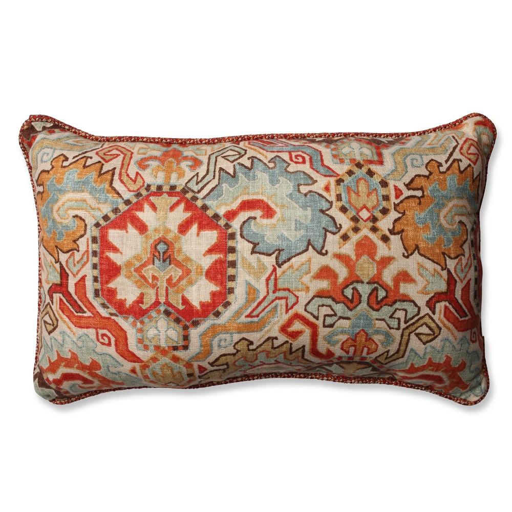 Pillow Perfect Madrid Sedona Rectangular Throw Pillow - Multi-Colored (18.5