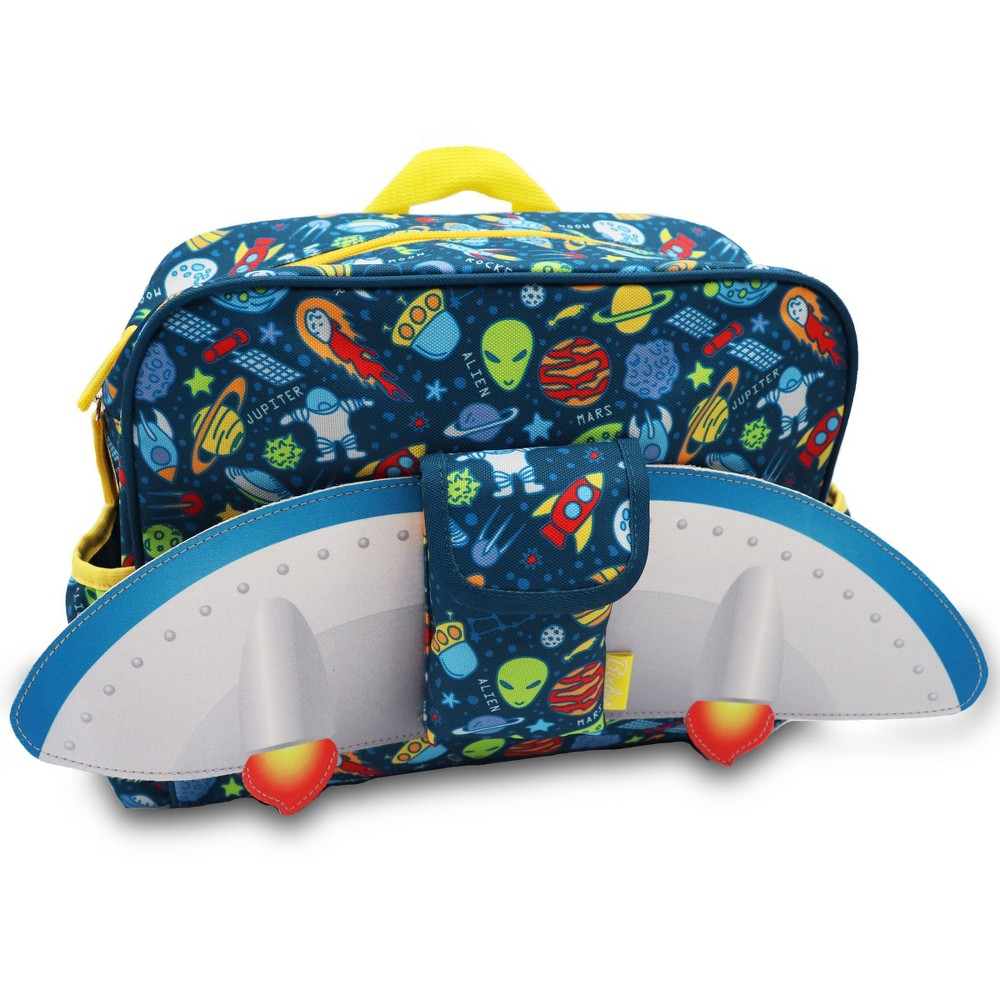"Image of ""Bixbee 10"""" Kids' Backpack Outer Space Flyer, Kids Unisex, Size: Small, Blue"""
