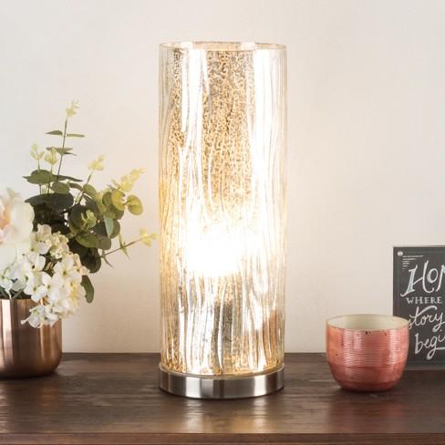 The Etagere Table lamp Light Silver (Includes LED Light Bulb) - Lavish Home - image 1 of 4