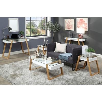 Oslo Sundance Coffee Table White/Bamboo Brown   Johar Furniture