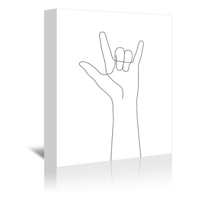 Americanflat Love Hand Gesture by Explicit Design Canvas