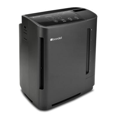 Brondell O2+ Revive True HEPA Air Purifier + Humidifier Black