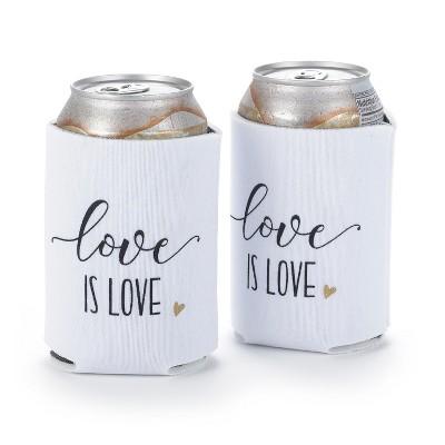 Hortense B. Hetwitt 2ct 'Love is Love' Beverage Holders - White