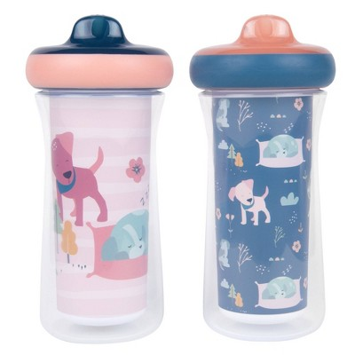 The First Years 2pk Insulated Sippy Cups - 12+m - Pink