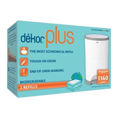 Dekor Plus Diaper Pail Biodegradable Refills - 2pk