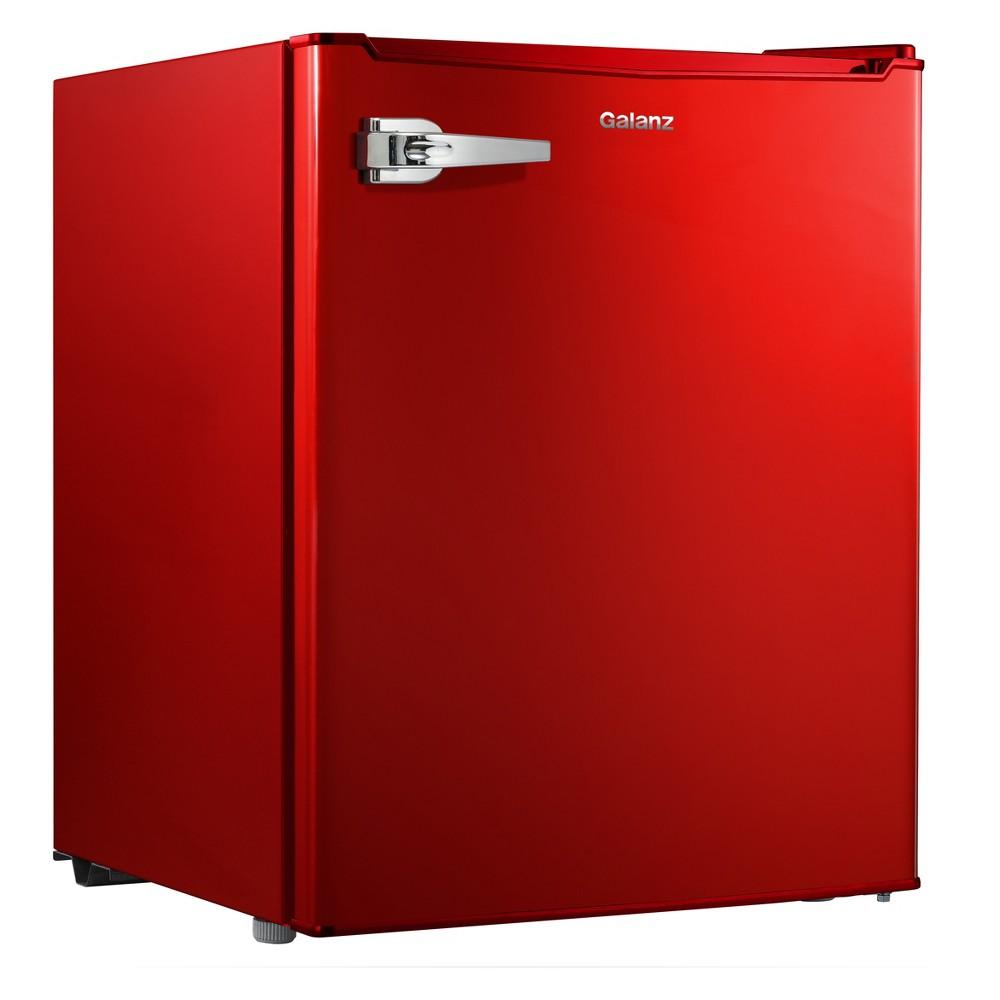 Image of Galanz 2.7 cu ft Retro Refrigerator Red