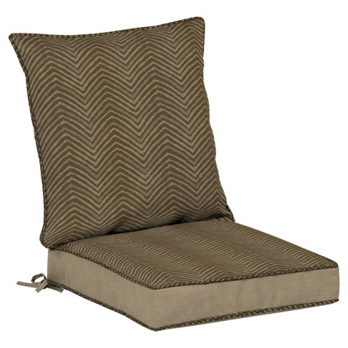 Zebra 2pc Outdoor Dining Seat Cushion Set - Brown - Bombay Outdoors ...