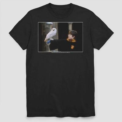Men's Warner Bros. Harry and Hedwig Short Sleeve Graphic Crewneck T-Shirt - Black