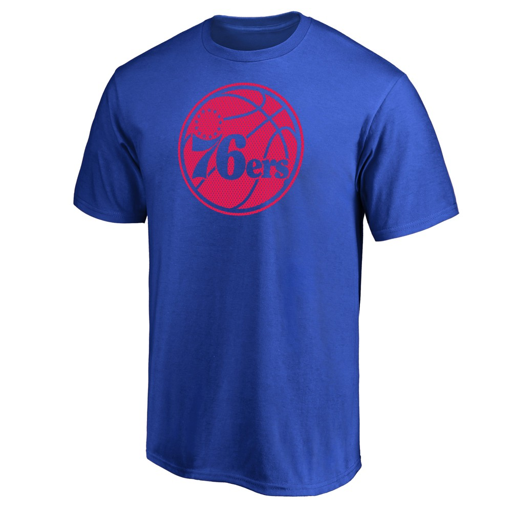 Philadelphia 76ers Men's Monochrome Standard T-Shirt - S, Multicolored
