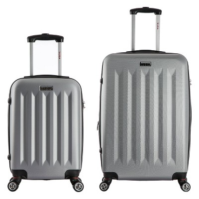 InUSA Philadelphia 2pc Hardside Spinner Luggage Set - Gray